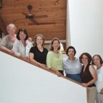 With my fellow writers in residence, Atlantic Center for the Arts, New Smyrna Beach, Florida. I'm third from the left.