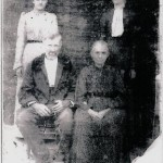 Uriah McClain and his wife Elizabeth with daughters Laura (left) and Sarah Ellen.